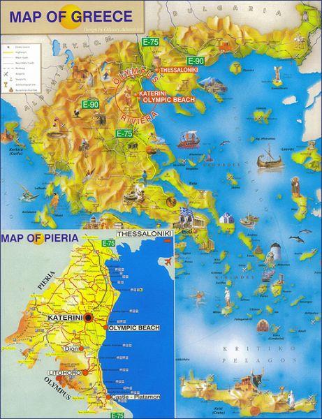 olympic beach mapa Letovanje Grčka Olympic Beach 2018 Cene Smeštaj olympic beach mapa