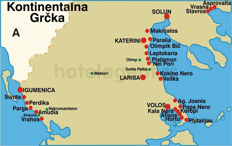 velika grcka mapa Letovanje Grčka Velika 2017 Cene Smeštaj velika grcka mapa